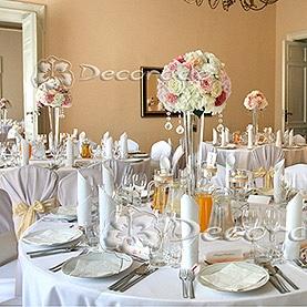 Ślubny wystrój sali w Pałacu w Zakrzewie