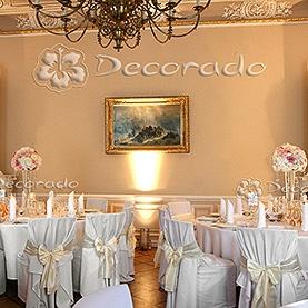 Ślubna dekoracja sali w Pałacu w Zakrzewie