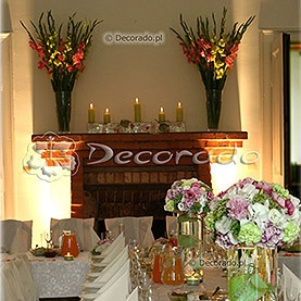 Róż, zieleń, biel – dekoracja sali w Pałacu w Brodnicy
