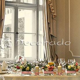 Dekoracja stołu prezydialnego – Pałac w Wojnowie