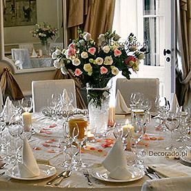 Dekoracja ślubna sali w Pałacu w Wojnowie