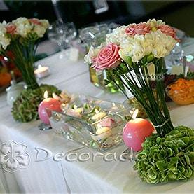 Dekoracja stołu Pary Młodej w Hotelu Dorian