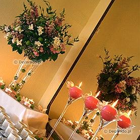 Dekoracja stołu kawowego w Hotelu Dorian