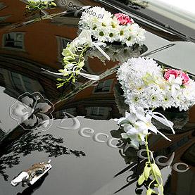 """Dekoracja samochodu """"Romantyczne serca"""""""