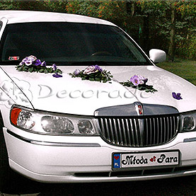 Elegancka dekoracja limuzyny