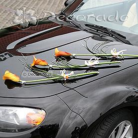 """Dekoracja samochodu """"Pomarańczowe cantadeski """""""