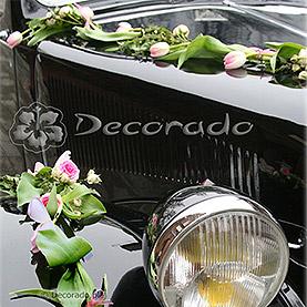 """Dekoracja samochodu """"Tulipany i róże"""""""