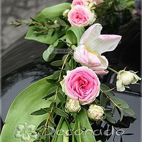 Delikatne różowe kwiaty
