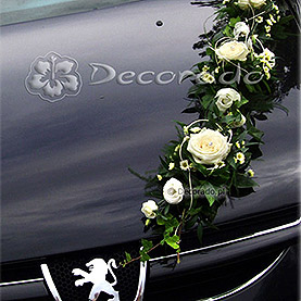 "Dekoracja samochodu ""Elegancka girlanda"""