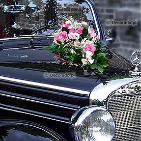 """Dekoracja samochodu """"Kompozycja w różu"""""""
