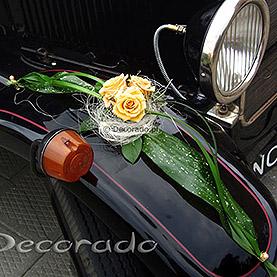 """Dekoracja samochodu """"Pomarańczowa elegancja"""""""
