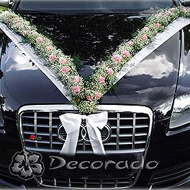"""Dekoracja samochodu """"Girlanda w różu"""""""
