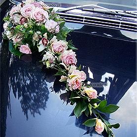 """Dekoracja samochodu """"Różowa elegancja"""""""