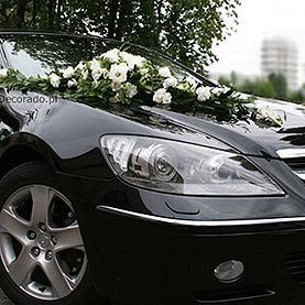 """Dekoracja samochodu """"Ślubna biel"""""""
