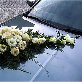 """Dekoracja samochodu """"Kremowa elegancja"""""""