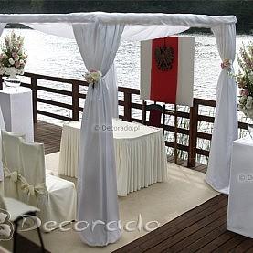 Elegancka ślubna altana – dekoracja ceremonii cywilnej – Skorzęcin