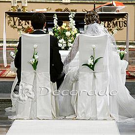Eleganckie krzesła dla Pary Młodej – kościół Św. Antoniego
