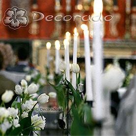 Kościół św. Antoniego – delikatne świeczniki