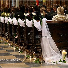 Dekoracja ślubna z tulipanów – Katedra Poznańska