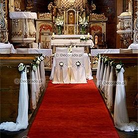 Elegancka dekoracja ślubna kościoła