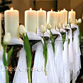 Tulipany i świece – kościół w Nekli