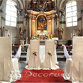 Eleganckie pokrowce na krzesła Pary Młodej i świadków