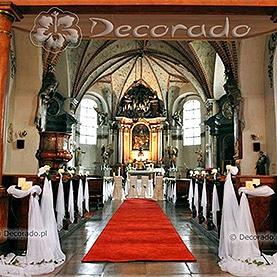 Dekoracja ślubna kościoła -klasyczne róże