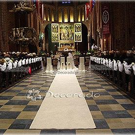 Dekoracja ślubna w bieli – Katedra Poznańska