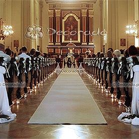 Dekoracja ślubna kościoła pw. Św. Józefa, Klasztor Karmelitów Bosych