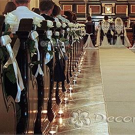 Dekoracja kościoła św. Józefa,Klasztor Karmelitów Bosych – eleganckie róże