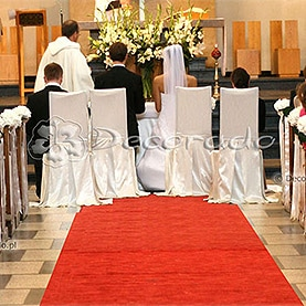 Elegancka dekoracja ślubna kościoła OO. Dominikanów