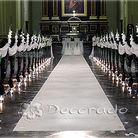 Alejka gladioli – dekoracja ślubna kościoła Św. Józefa