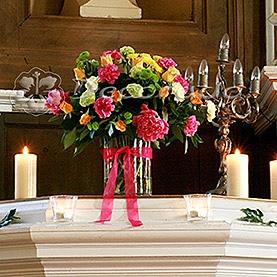 Kolorowy bukiet – kościół w Wąsowie