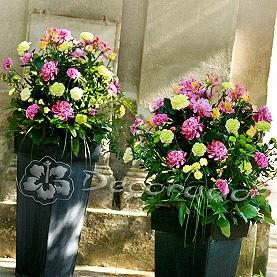 Żywe kolory kwiatów – kościół w Wąsowie