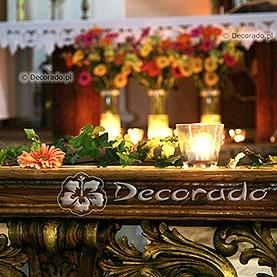 Wystrój ślubny kościoła w Dąbrówce Kościelnej