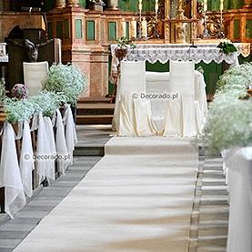 Dekoracja ślubna – prosta gipsówka – kościół w Granowie