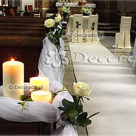 Wystrój kościoła w Kostrzynie Wlkp. – dekoracja w bieli