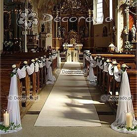 Biała dekoracja – kościół w Kostrzynie Wlkp.