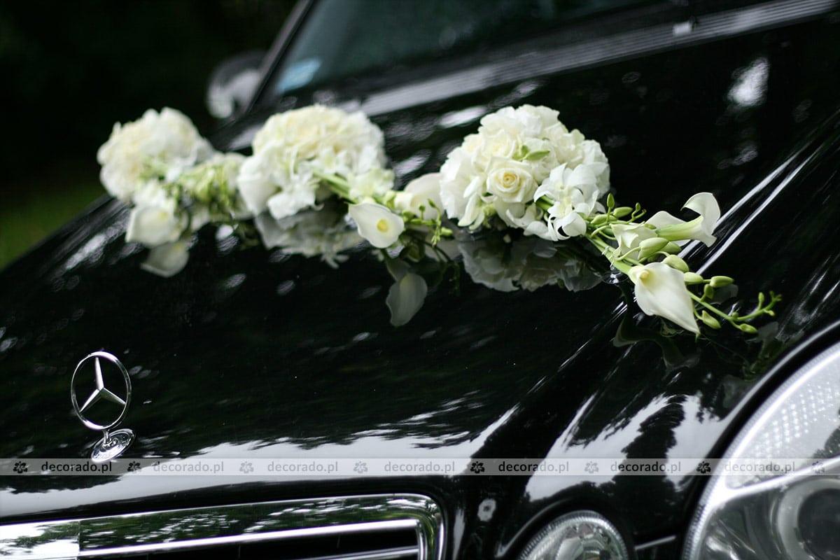 Modne ubrania Dekoracja samochodu kwiatami do ślubu - Decorado.pl VX74