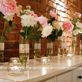 Dekoracja ślubna sali w Villa Natura