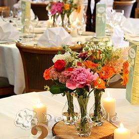 Kolorowe kwiaty w stylu vintage