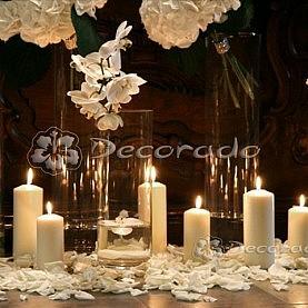 Hortensje, szkło, świece – romantyczny nastrój dekoracji Katedry Poznańskiej