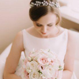 Eteryczny bukiet ślubny w pastelach