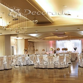 Ślubny wystrój sali w Hotelu Gromada w Pile