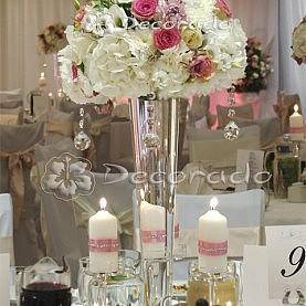 Kwiaty w blasku świec – dekoracja sali w Hotelu Gromada w Pile