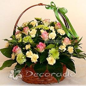 Róż, zieleń i łosoś