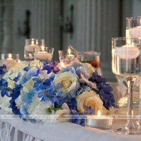Kompozycja na stole prezydialnym – Pałac w Rydzynie