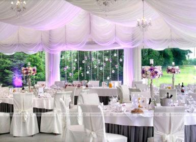 Dekoracja ślubna sali w Rezydencji solei