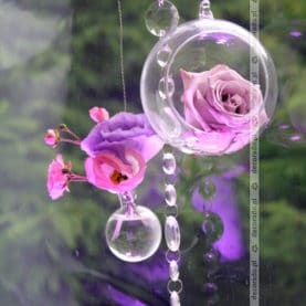 Dekoracja ślubna – fiolet i róż – Restauracja Solei