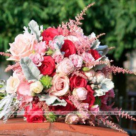 Róż i malina – naturalny bukiet